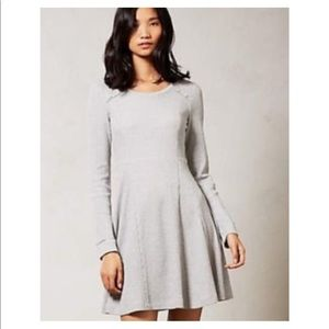 NWT eloise anthropologie waffle gray dress